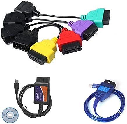 KKL USB Fiat Ecu Scan OBD 2 Herramienta De Cable De Diagn/óstico