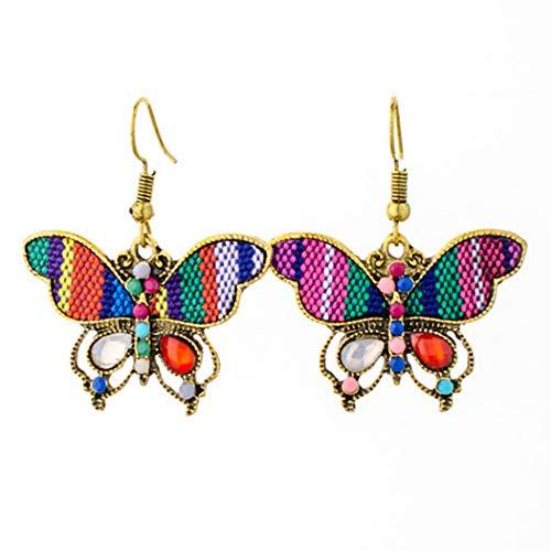 CACAZI Pendientes Colgantes De Mujer Moda Diseño De Mariposa Pendientes Colgantes De Mariposa Con...