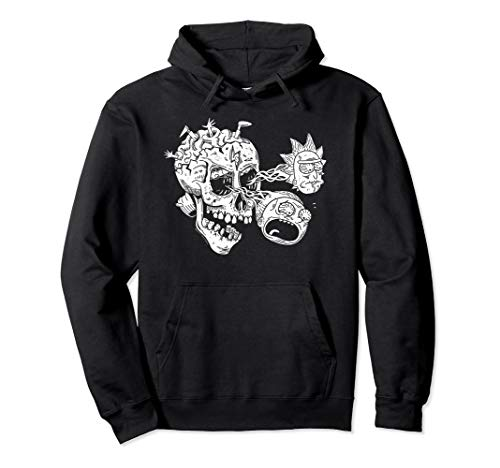 Rick & Morty Skull with R&M Eyes Pullover Hoodie