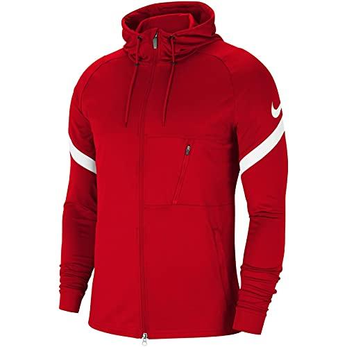 NIKE Strike 21 Full-Zip Jacket Chaqueta con Cremallera Completa, Rojo y Blanco, XL para Hombre