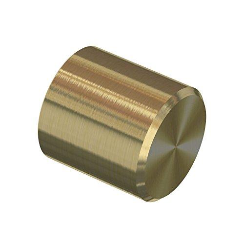 Flairdeco Endstücke für 16 mm Ø Gardinenstange, Kappe, Metall, Messing-Optik, 2 Stück