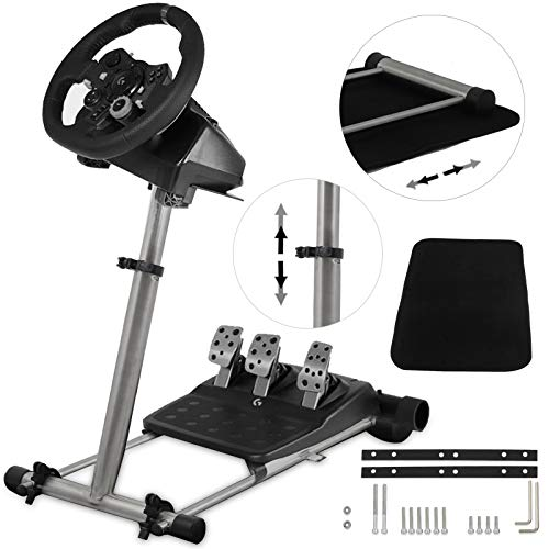 VEVOR Steering Wheel Stand Steering Wheel Column 360° Stepless Adjustable Wheel Stand Pro Shifter Mount Stand Logitech G29/G920 & G25/G27 Racing Wheel, Wheel Pedals Not Included