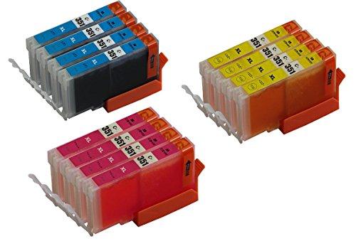 【Ecolink】キャノンCANON 互換インクカートリッジBCI-351XLC(シアン)X4+BCI-351XLM(マゼンタ)X4+BCI-351XLY(イエロー)X4 互換インク 12個パックBCI-351XL+350XL/6MP対応