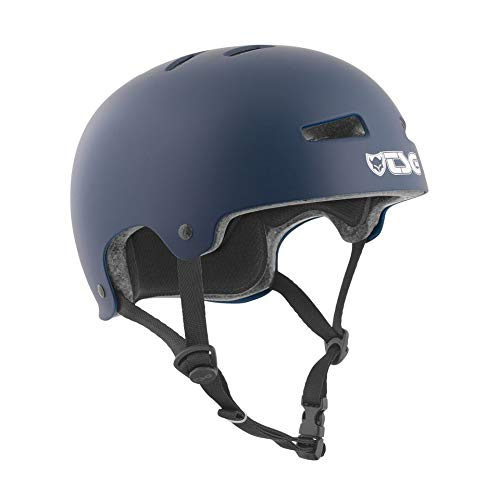 Check Out This TSG Evolution Skate & Bike Helmet in Satin Blue w/Snug Fit & Triple Cert. for Skatebo...