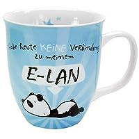 Form-schöne Porzellan-Tasse, Durchmesser: 9, 5 cm, Höhe: 10, 5 cm, Volumen: 40 cl Dekorative Kaffee-Tasse oder Tee-Tasse mit Innendruck Pflegeleicht und praktisch, da spülmaschinengeeignet Schönes Tier-Design mit niedlichem Panda-Bären, Tasse mit Spr...