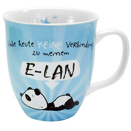 Hope und Gloria 45672 Tasse mit Panda-Motiv E-LAN, Blau