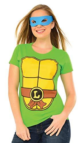 Rubie's Men's Costume Teenage Mutant Ninja Turtles Top with Mask and Leonardo, Multicolor, Extra Large