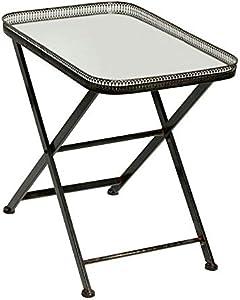 COTE TABLE guéridon Tavolo Rettangolare Specchio 54x 57x 39cm