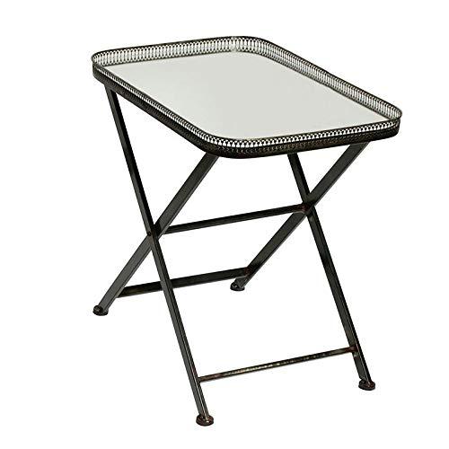Guéridon Tisch, rechteckig, Spiegel, 54 x 57 x 39 cm