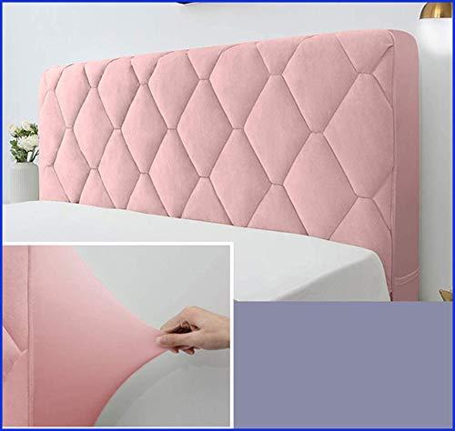 Funda Para Cabecero De Cama,funda Para Cabecero, Color Liso Antipolvo Funda,Pink-120X73CM