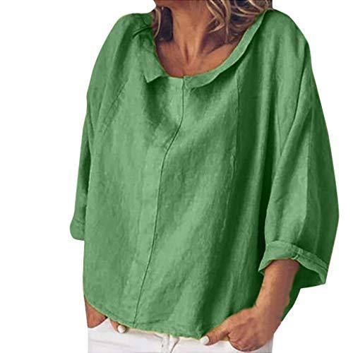 Shirt Damen T-Shirt Oberteile Langarmshirt Sexy Oberteil für Damen Tops Sommer Ärmellos Rundhals mit Sterne