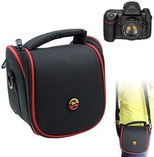 BBGSFDC Bolso de Cuero de la Textura de la Tela de la cámara Digital portátil con la Correa, tamaño: 150x115x135mm