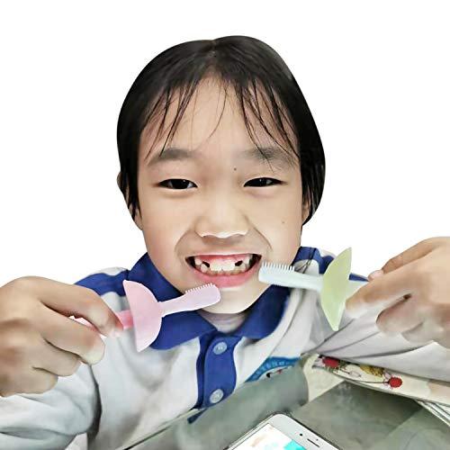 SOYAR bébé brosses à dents molaires en silicone de qualité alimentaire Set de qualité...