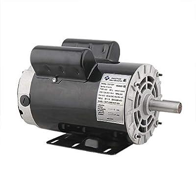 Electric Compressor Motor - 7/8'' Air Compressor Motor 230V 5HP Electric Motor 3450RPM Electric Motor Fan Pump 56 Frame Compressor Duty Electric Motor[US Stock]