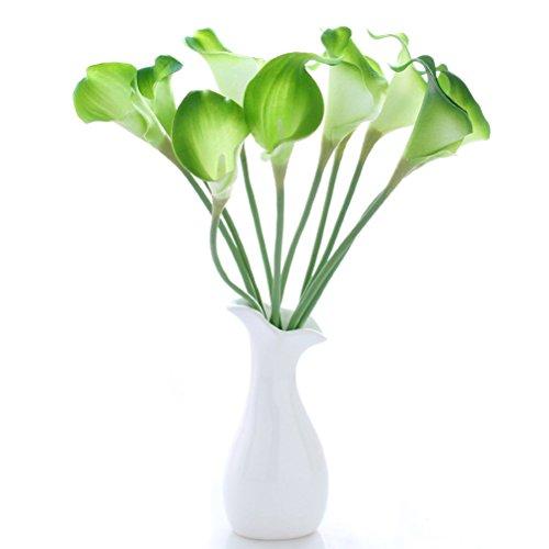 ROSENICE Calla Kunstblume Deko Künstliche Blumen Kunstpflanze Blumenstrauß - 10 Stücke