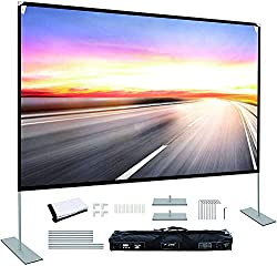 """commercial Projection screen with stand 100 """"16: 9 4K HD Portable projection screen Projection front Rear… outdoor movie screens"""