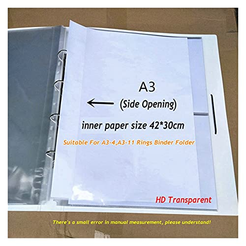 Carpeta de la carpeta de anillos A3 SHOY PROTECTORES Transparente PVC BAG A1 A2 A4 Organizador de papel Bolsa de documento A5 Bolsa de archivo transparente para documentos by FENGL ZTYSS