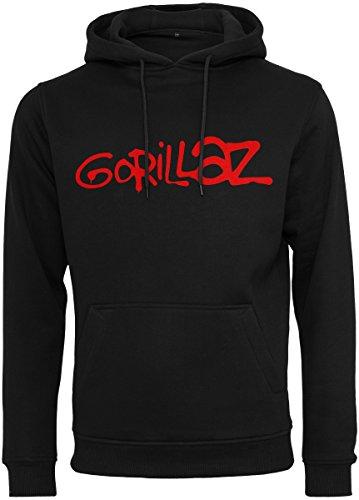 MERCHCODE Herren Gorillaz Logo Hoody Kapuzenpullover, Black, M