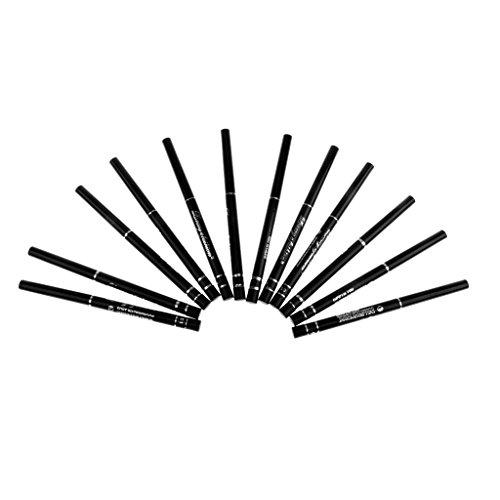 12 Negro Cosmética Sombra De Ojos Delineador De Ojos Delineador De Ojos Maquillaje De La Pluma Del Lápiz Resistente Al Agua