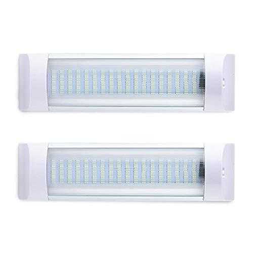ZIHAN Feil Store 2 plafone 12V24V Evidenziare 12W 72 Luce LED Bead Trasparente Shell Automobile Interni Striscia all'Ingrosso CSV (Color Temperature : 6500K, Emitting Color : 2PCS)