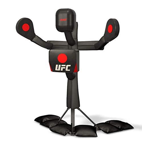 UFC BAS Body Action System Deluxe - Professional Freestanding Home Training Equipment System for MMA, Kickboxing, Muay Thai and Martial Arts - Adjustable Punching and Kicking Pads