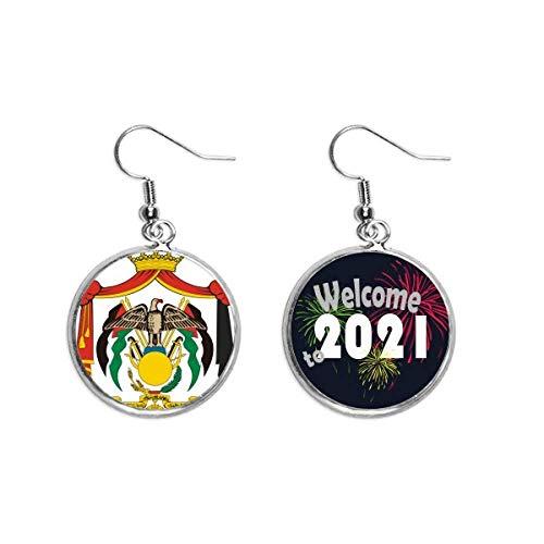 Jordan National Emblem Country Ear Colgantes Pendientes Joyería 2021 Blessing