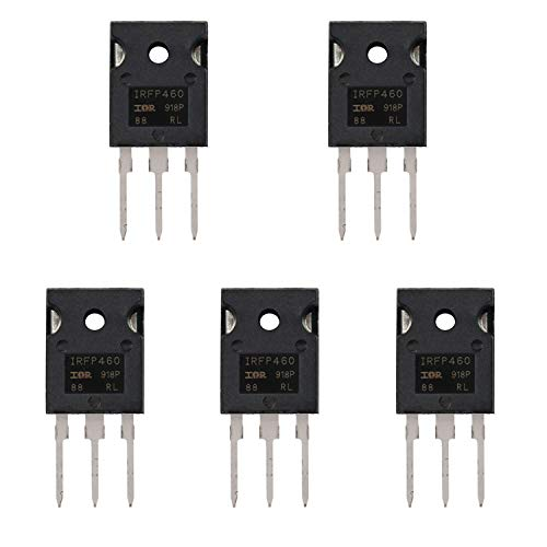 BOJACK IRFP460 Transistores MOSFET IRFP460N 20 A 500 V N-Channel Power MOSFET IRFP460NPBF TO-247 (Paquete de 5 piezas)