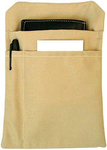 CG Workwear 5 x Service Kellnertasche Kellnerbörse Kellner Geldbörse Holster mit Einsteckfächern braun/beige