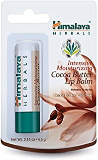 Himalaya Intensive Moisturizing Cocoa Butter Lip Balm for Dry, Chapped Lips, 0.16 oz