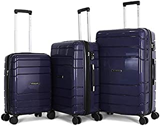 Giordano Luggage Trolley Bags For Unisex 3 Pcs, Blue, 7200