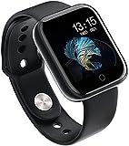 HIMU Fitness Reloj de Pulsera con rastreador de Ejercicios Reloj Deportivo Bluetooth Rastreador de Actividad Podómetro Monitor de sueño Contador de calorías Monitor de frecuencia cardíaca Rosa-Negro