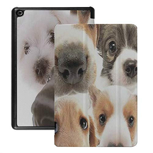 QIYI Kindle Fire 8 Cases and Covers Standing Case Kids Protective Cover for Fire HD 8 Tablet with Auto Wake/Sleep (6th / 7th / 8th Generation, 2016/2017 / 2018 Release) - Dogs Collection