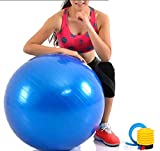 Exercise ball 75cm With Pump Home Gym Workout Equipment Swiss Ball for Yoga, Pilates, Fitness, Physical Therapy, Pregnancy & Core Training Ideal For Men & Women