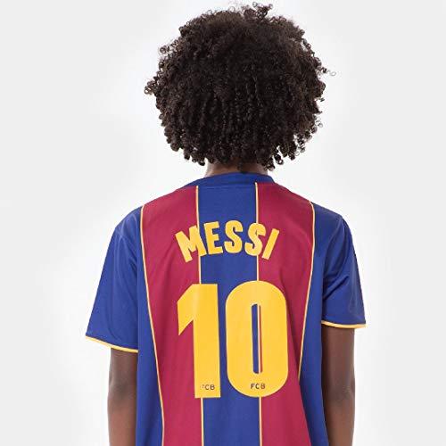 FC Barcelona Morefootballs - Offizielles Lionel Messi Heimspiel Trikot Set für Kinder - 2020/2021-140 - FCB Tenue mit Messi Nummer 10 - Fussball Shirt und Shorts