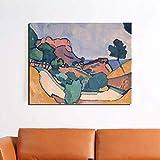 Lienzo impreso de Andre Derain pintura de pared arte de montaña carteles modulares estilo retro cuadros decoración del hogar imagen sala de estar 60 x 80 cm (sin marco)