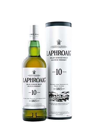 Laphroaig 10 Year Old Islay Single Malt Scotch Whisky, 70 cl