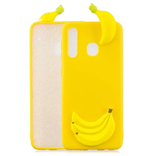 Capa para Samsung A30, capa de silicone com desenho animado fofo para Samsung Galaxy A30 - Banana