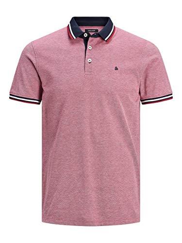 JACK & JONES Male Poloshirt Klassisches XLRio Red