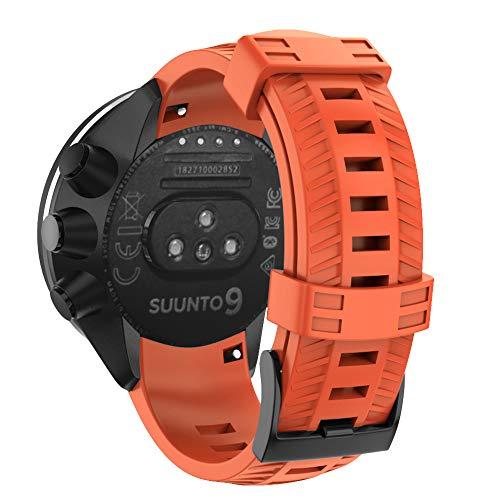 WIIKAI Correa de repuesto compatible con Suunto 9, Baro Copper, Extension Gold, Elite Edition, Titanium Alloy, Spartan, Baro Outdoor