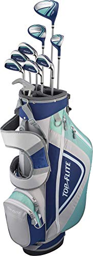 Top-Flite Women's 2018 XL 12-Piece Complete Golf Club Set – (Graphite)-Blue/Grey-Right Hand-Standard
