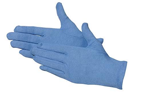 Jah 3101 de bl Gant en coton, Oekotex, niveau intermédiaire, amplifie, bleu, Taille 7, Lot de 24