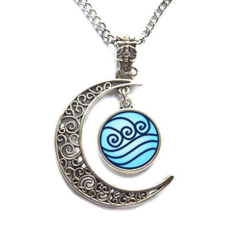 Modern Crescent Moon Necklace, Moon Necklace,Water Tribe Necklace Pendant Water Tribe Jewelry,Friends Gift