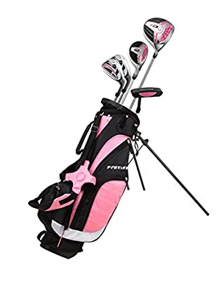Precise XD-J Junior Complete Golf Club Set for Children Kids - 3 Age Groups Boys & Girls - Right Hand & Left Hand! (Pink Ages 9-12, Right Hand)