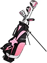 Left Handed Pink Junior Golf Club Set for Age 6 to 8