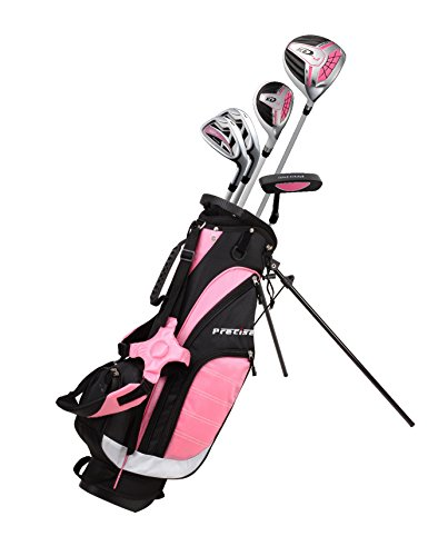 Precise XD-J Junior Complete Golf Club Set for Children Kids - 3 Age Groups Boys & Girls - Right Hand & Left Hand! (Pink Ages 9-12, Left Hand)