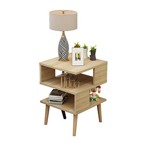 Comodino, comodino per camera da letto, comodino mobile, tavolino da caffè semplice con scomparto frontale aperto per soggiorno, decorazione corridoio (colore giallo)