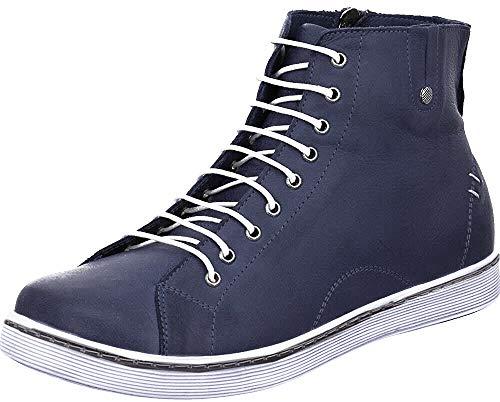 Andrea Conti 0027913, Zapatillas Altas Mujer, Azul D Azul 017, 37 EU