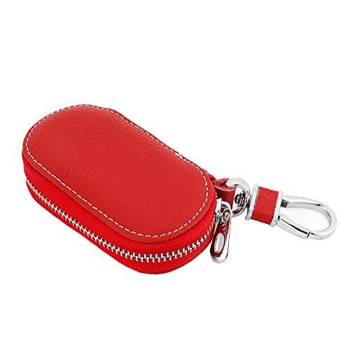 Bolso para llaves de coche, bolso para llaves de coche con cremallera, llave remota para coche Smart Key(red)