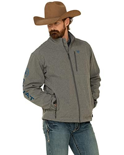 ARIAT Men's Charcoal Logo 2.0 Softshell Jacket