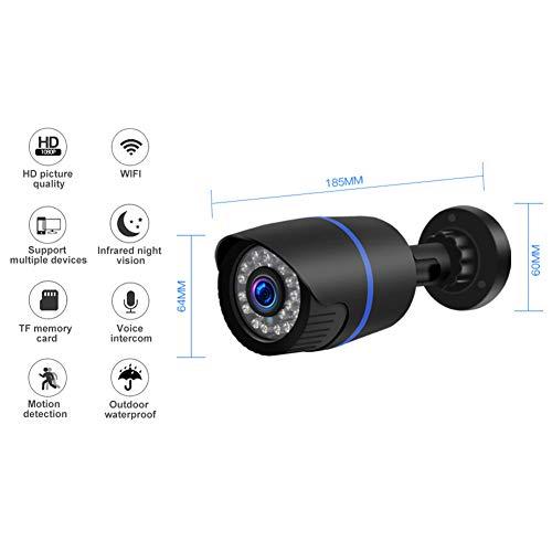 Joe Boxer Überwachungskamera, Wireless-LAN-Kamera Im Freien 1080P HD IR Nachtsicht-wasserdichte IP-Kamera Bullet Zweiwegsprachkommunikation 2MP Home Baby-Monitor Schwarz